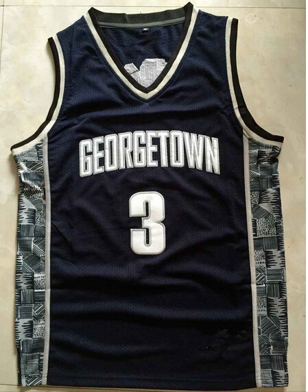Allen Iverson #3 Georgetown Hoyas ,NCAA College Jerseys,2015 New Throwback Retro Jersey,Embroidery logos,Free Shipping 1527(China (Mainland))