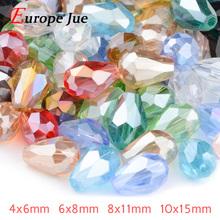 Buy Briolette Pendant Waterdrop Austrian crystal beads 4*6mm 6*8mm 8*11mm 10*15mm Teardrop glass Loose bead bracelet DIY for $3.45 in AliExpress store