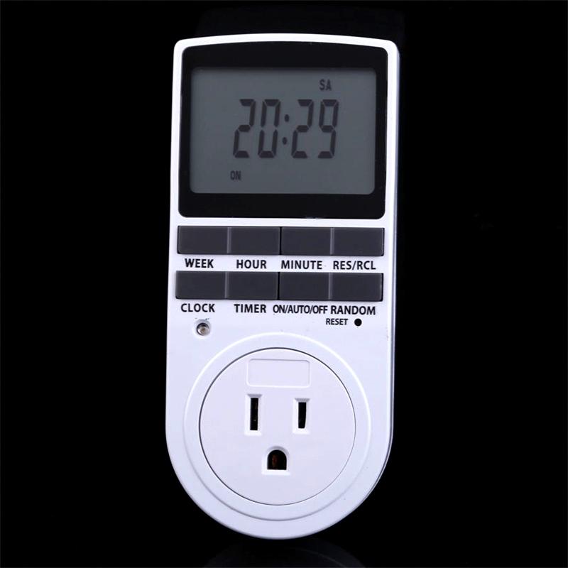 Гаджет  US Plug 7 Day Week Digital LCD 12/24 Hour Plug-in Timer Switch Socket 120V AC /15A/1800W None Электротехническое оборудование и материалы