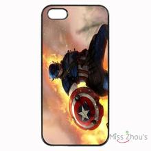 For iphone 4/4s 5/5s 5c SE 6/6s plus ipod touch 4/5/6 back skins mobile cellphone cases cover Captain America Fighting