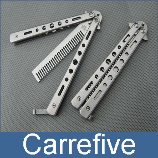 tactical folding hunting safety practice training multi tool comb usually butterfly knife camping(China (Mainland))