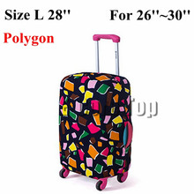 Free Shipping Travel Luggage Suitcase Protective Cover Apply To 18~30 Inch Case Luggage Cover Elastic Material Print Dust-Proof(China (Mainland))