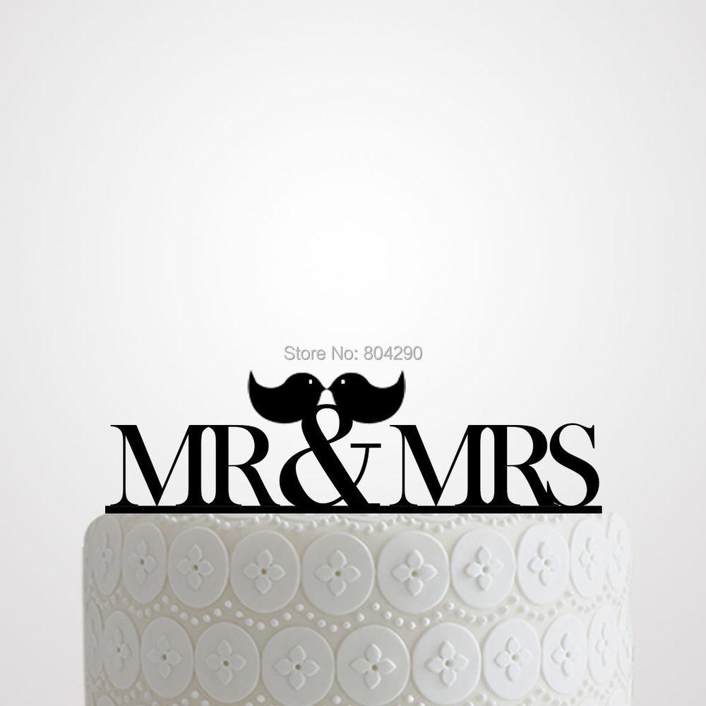Mr And Mrs Bird Cake Topper