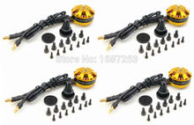 4pcs/lot DYS brushless motor BE2204 2204 2400KV for DIY FPV drones 250 F330 quadcopter