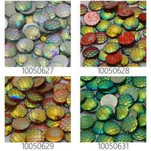 Lots of 50pcs 12mm Mermaid Cabochons AB Iridescent Mermaids Cabochon Fish Scale Dragon Snake Skin Cabochons-100506(China (Mainland))