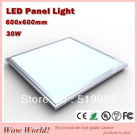Фотография Top quality fashion design panel lights LED 600*600mm, 30W, 2700LM, AC85~265V/DC12V/DC24V input, CE ROHS PSE
