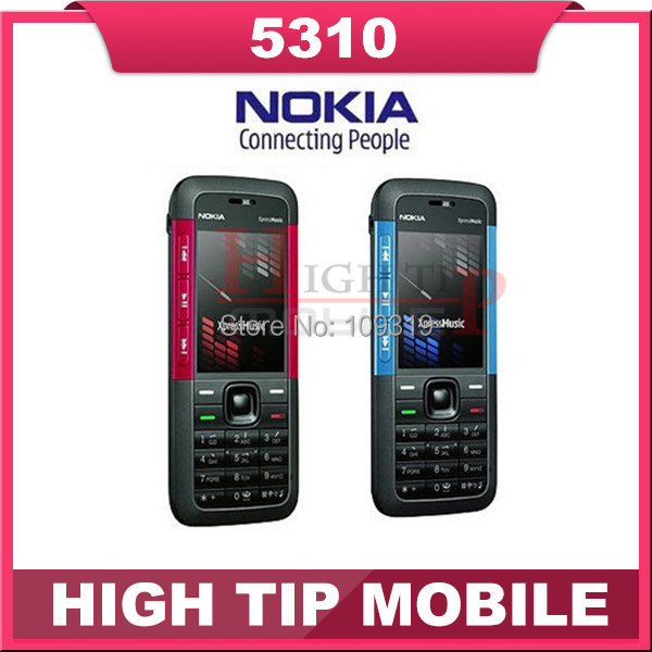 Original unlocked Nokia brand  5310 Mobile Phone 5310 XpressMusic Cellphone With Bluetooth 2MP Camera Free Shipping Refurbished