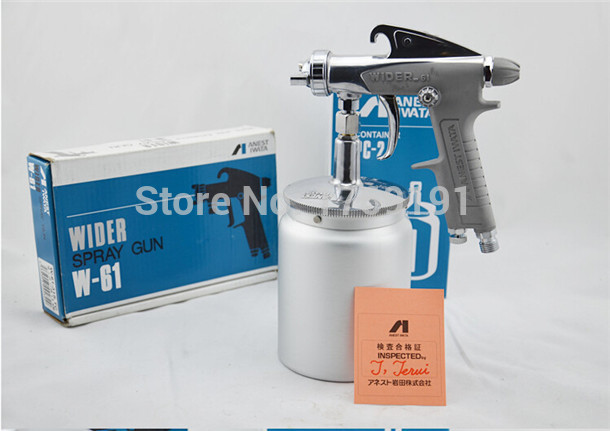 Anest Iwata W-61 Spray Gun Suction Type With a Bottom Paint Cup on the pot small door gun W61 spray gun furniture(W61-S)(China (Mainland))