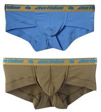 New 2016 ES Collection Brand 2pcs/Lot Sexy Underwear Men 100% High Quality Cotton Briefs for Men Breathable Men Underwear Shorts(China (Mainland))