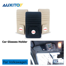Buy Genuine leather Car glass clip holder Volkswagen VW polo golf 5 7 6 4 Scirocco beetle t5 passat b6 B5 touran bora jetta t4 for $9.46 in AliExpress store