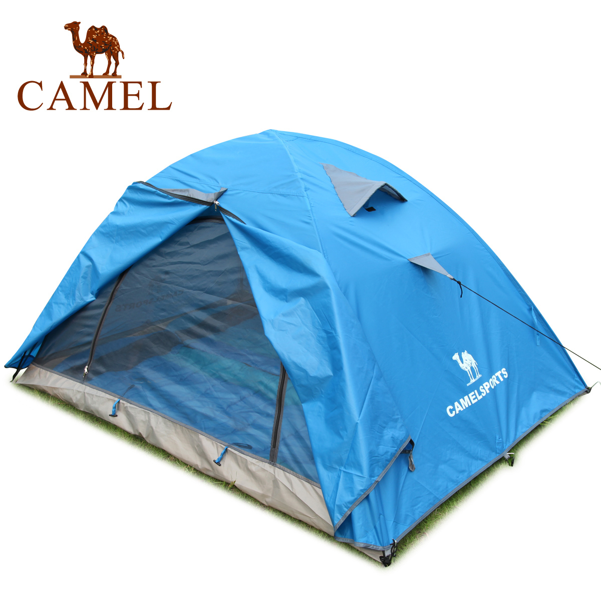 Camel outdoor tent double layer camping tent outdoor products many people tent house(China (Mainland))