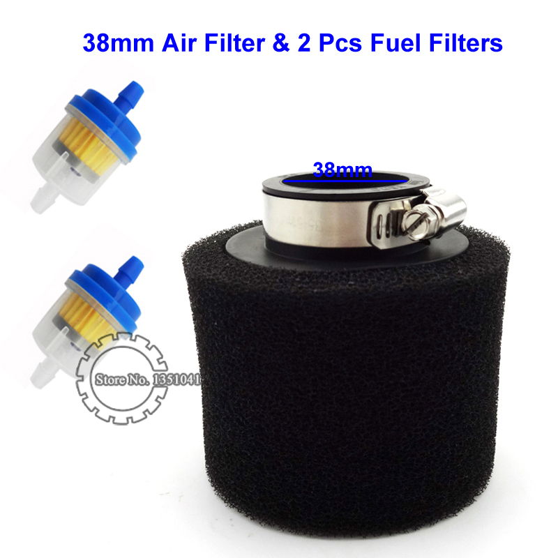 38mm Air Filter Fuel Filter For Chinese 110cc 125cc Engine Carburetor CRF50 XR50 SSR Thumpstar Pit Dirt Bike Motorcycle ATV(China (Mainland))