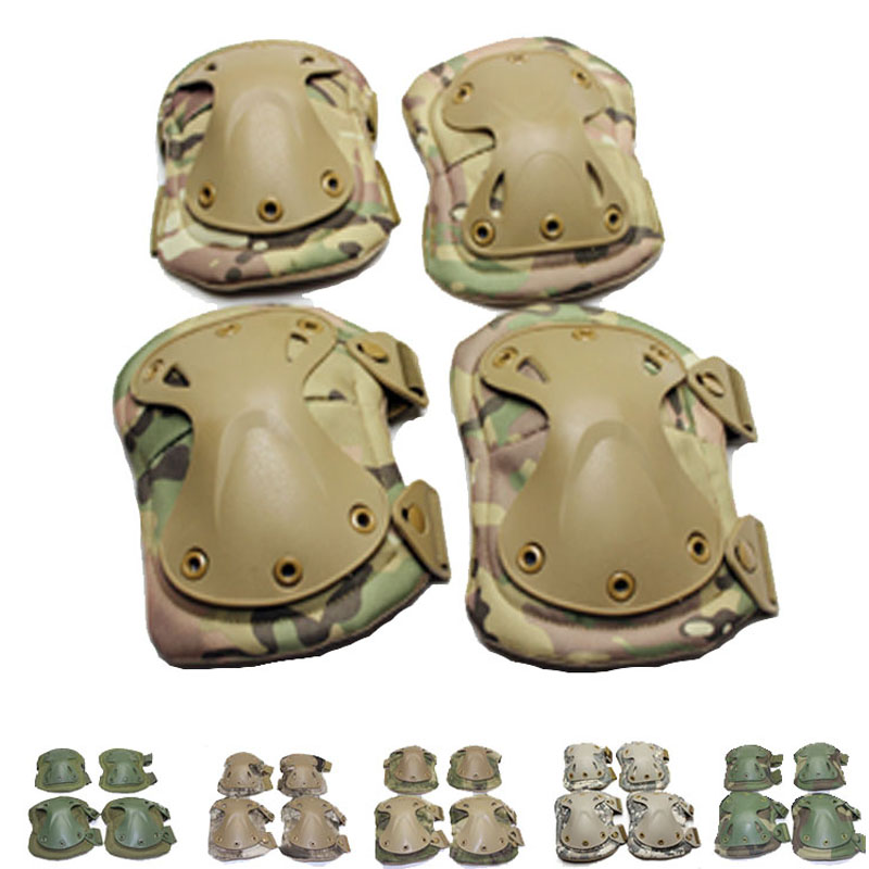 Military Tactical Combat Airsoft Paintball Hunting protective pads knee elbow - Frostwolf Outdoor Outfits Co.,Ltd store