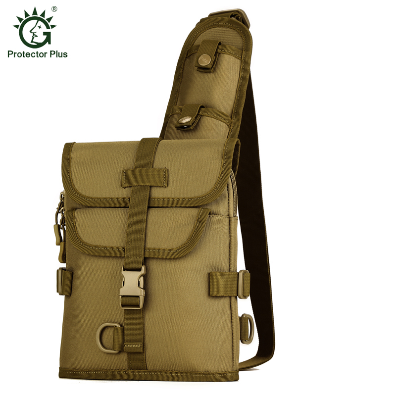 Tactical Messenger Bag Molle Single Shoulder Cycling Chest Pack Military Sling Bag Camouflage Army Hunting Bag Camping Equipment