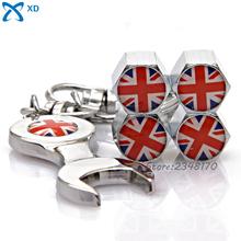Buy 4Pcs UK United Kingdom Flag Logo Wheel Tire Valve Stems Caps Stainless Steel Jaguar Mini Cooper MG Mini Wrench Keychain for $4.58 in AliExpress store