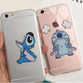 Funny Emoji cute cartoon Stitch Transparent Plastic Coque Funda For Capa Para Cover Case for Apple