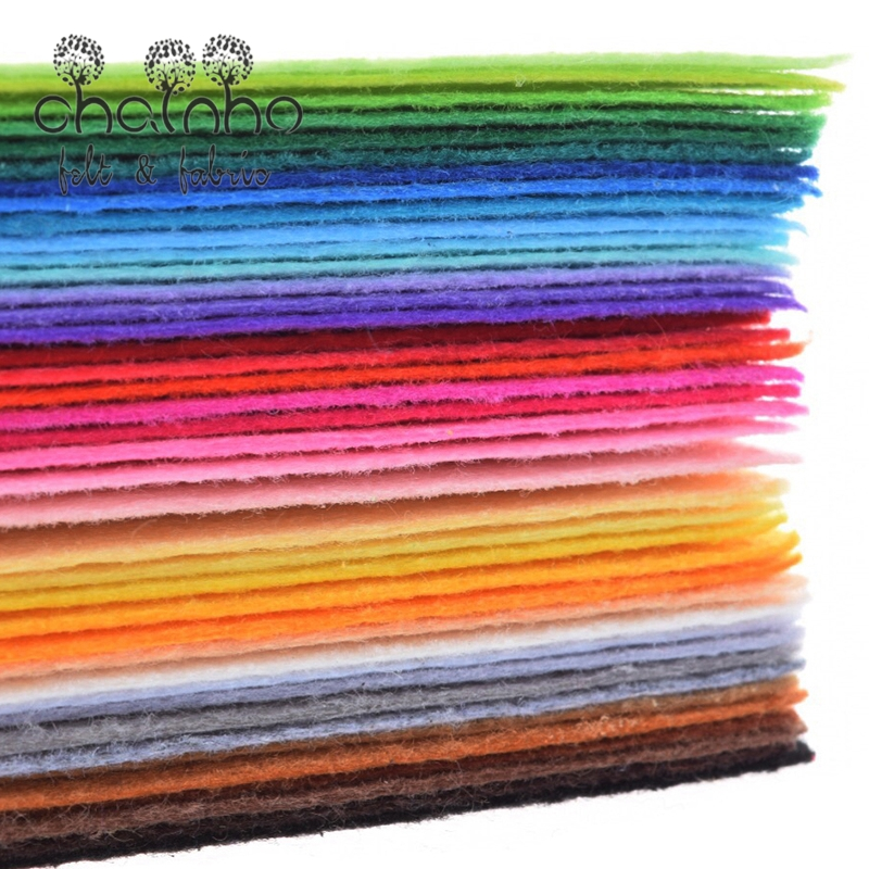 Nonwoven Fabric 1mm Thickness Polyester Felt Sheets Of Home Decoration Pattern Bundle For Sewing Dolls Crafts 40pcs 10x15cm(China (Mainland))
