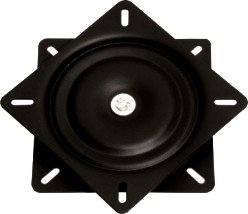 6.5 inch black 360 degree and flat swivel plate ,furniture hardware, barstool turntable(China (Mainland))
