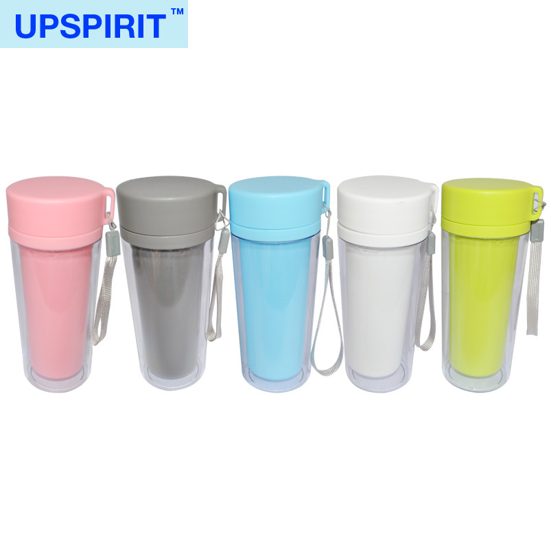 Hot sale environmental friendly plastic water bottle sports water bottle DIY cute travel mug with changeable color paper sheet(China (Mainland))