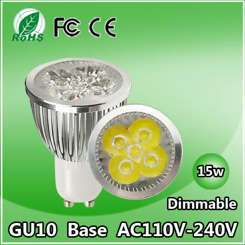 Super Deal Gu10 MR16 E27 Base LED Spotlight Bulb Lamp 6W 9W 12W 15W 110V-240V Warm Cool White CE FCC ROHS Certified LED Bulb(China (Mainland))