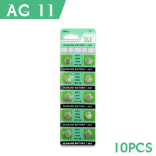 10 Pcs/lot AG11 362 SR721SW SR58 TR721 Alkaline Coin Cell Button Batteries For Watch EE6212