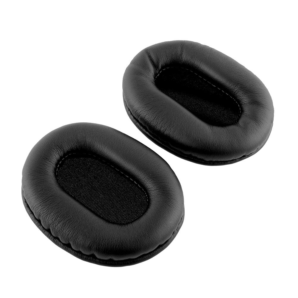 Black 2pcs New Original Leather Ear Cushion Earpads For ATH-M50 M50S M
