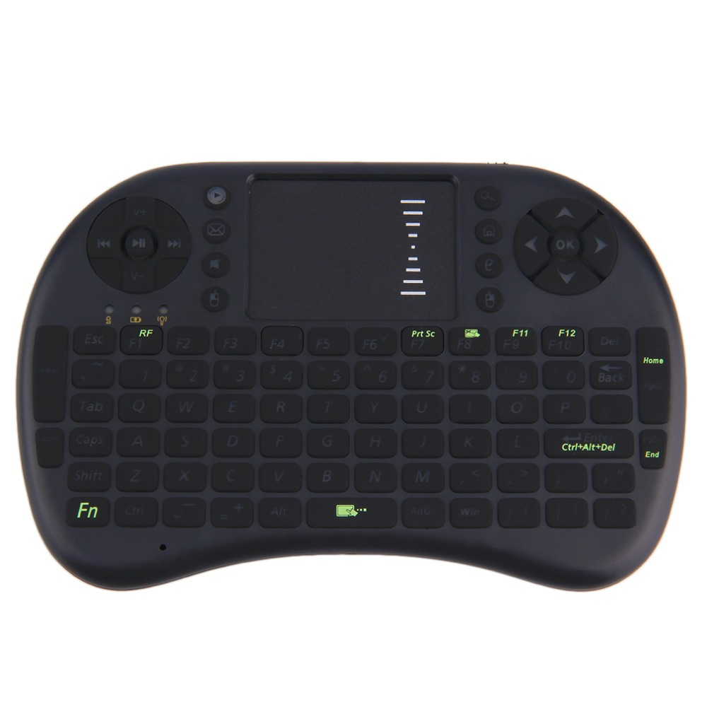New Mini i8 Wireless Rechargeable Keyboard Touchpad Fly Air Mouse Backlight Black / Whiteest Wholesale(China (Mainland))