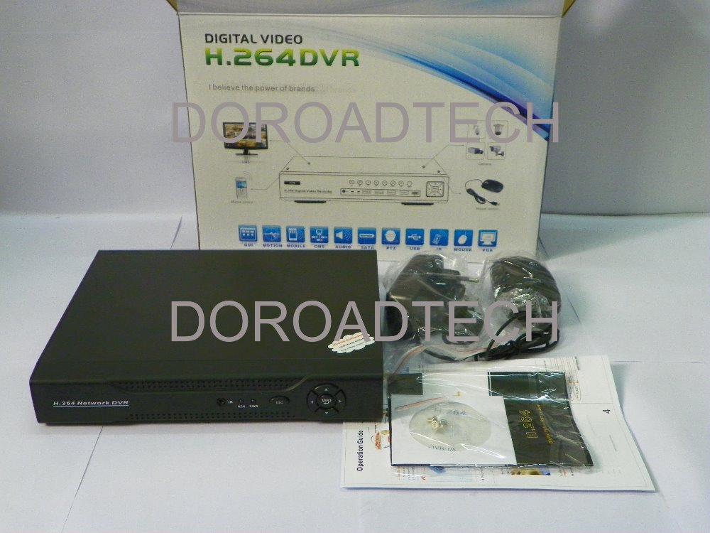 Hot Selling-CCTV Security 4CH H.264 D1 Real Time Standalone Network DVR for Security Camera System(China (Mainland))