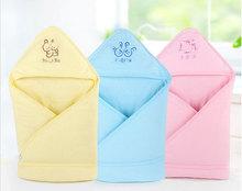 Brand 100% Cotton Baby Hooded Receiving Blankets Bath Towel Cobertor Newborn Kids Animal Cartoon Hooded Bathrobe Cuddle Blanket