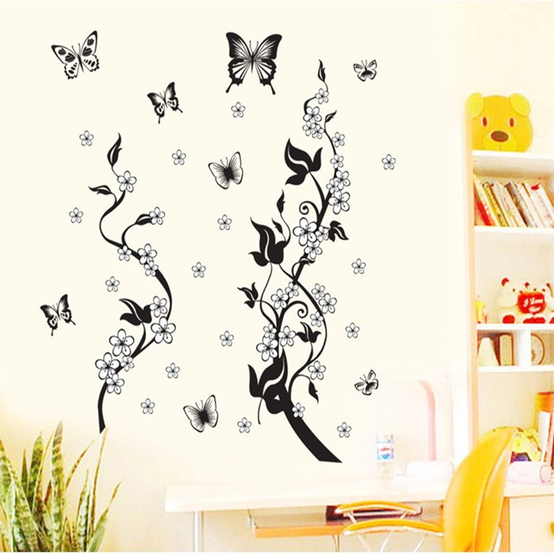Remove wall decorative stickers sitting room adornment vine of bedroom the head of a bed wall stickers(China (Mainland))