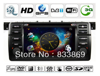 "HD 1din 7 ""Car DVD Player for BMW 3 Series/E46/M3 with GPS Navi IPOD TV Bluetooth Radio/RDSAUX IN 3D UI PIP free Can Bus"