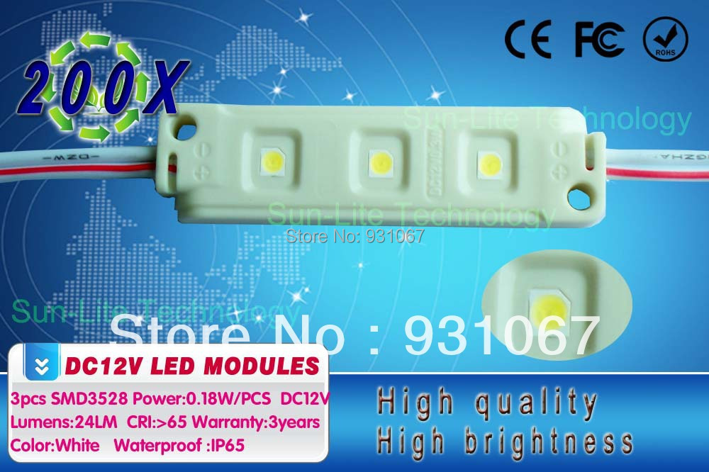 Chanel New Module 3528smd Led for Advertising Waterproof Ip65 Led Light+ralph Free Shipping 200pcs/lot(China (Mainland))