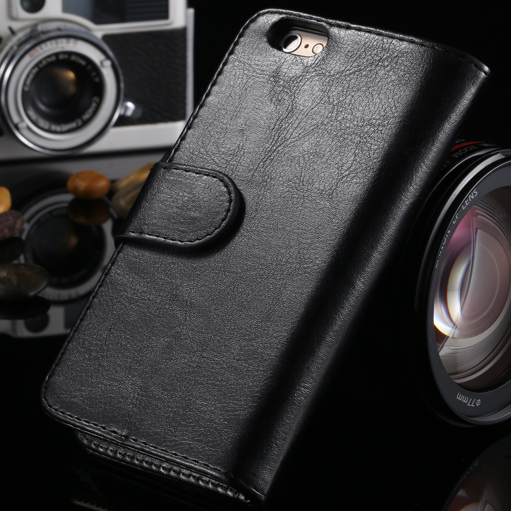 Photo Frame Wallet Flip Phone Case for iphone 6 Stand PU Leather Crazy horse Cover for iphone6 , 4.7