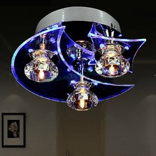 Moon And Star Modern Crystal Chandelier Ceiling Led Light Fixtures Lamp Vintage Lights For Dining Room Us24(China (Mainland))