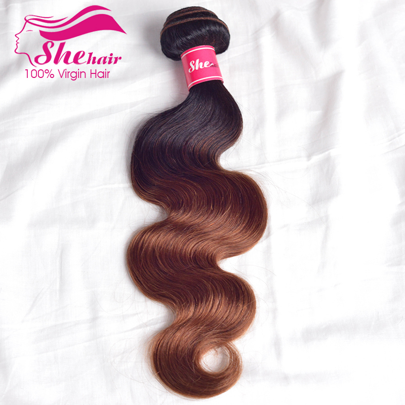 Brazilian Body Wave Ombre Hair 3pcs,Two Tone T1b/ 33# Ombre Brazilian Hair Cheap 6A Rosa Hair Products Brazilian Virgin Hair