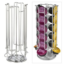 Top Home Solutions Revolving Rotating 24 Capsule Coffee Pod Holder Tower Stand Rack For Dolce Gusto