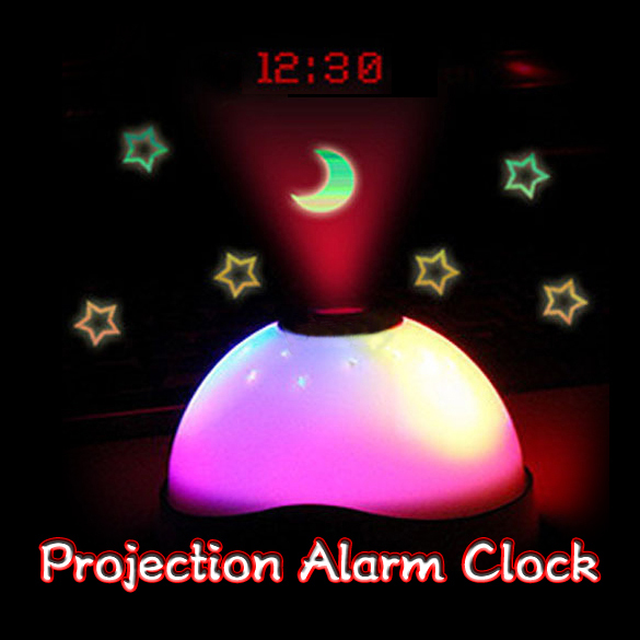 Starry Digital Magic LED Projection Alarm Clock Night Light Color Changing F#OS(China (Mainland))