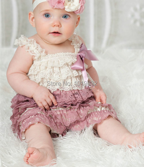 Aliexpress Com Buy Baby Dusty Rose Lace Romper Baby