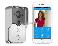 WIFI Visual Intercom Doorbell Via Smart  Mobile Phone Control with IP Door Phone & Wireless Door Peephole Viewer & WaterProof