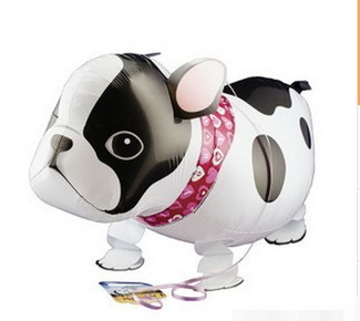 5pcs/lot Manufacturers supply aluminum film balloon animal cartoon image of the dog walk wholesale(China (Mainland))