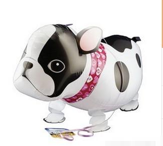 5pcs/lot Manufacturers supply aluminum film balloon animal cartoon image of the dog walk wholesale(China (Mainland))