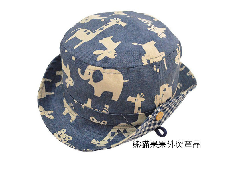 2015 Hats For Children Hat Baby Export Trade Of The Original Single Male Child Baby Infant Hat Kids Cartoon Animal Sun Cover(China (Mainland))