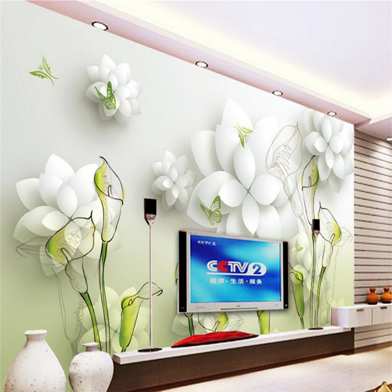 Calla lily wallpaper reviews online shopping calla lily - Wohnzimmergestaltung 3d ...