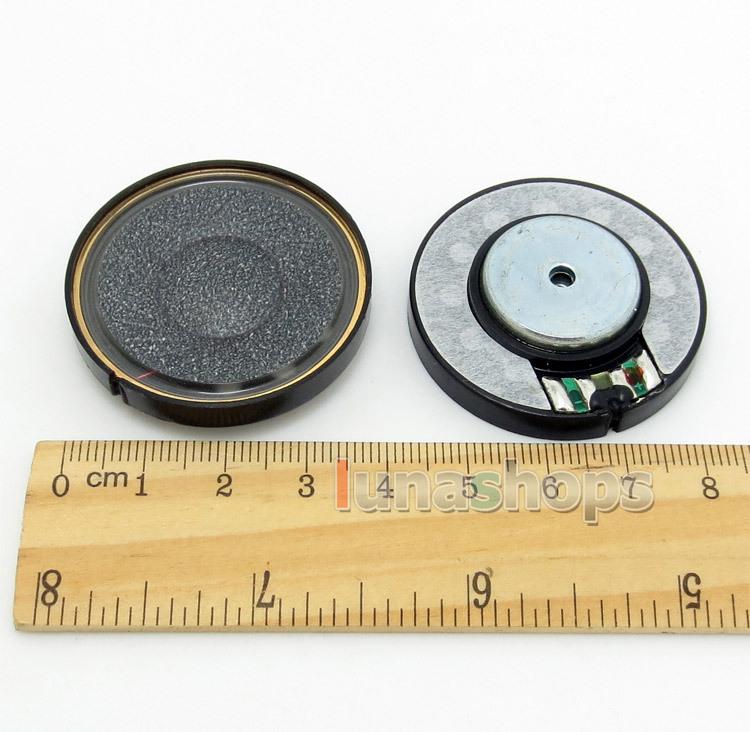 1 Pair Dia 40mm Black Carbon + Hitachi N45 Speaker Unit For DIY Custom Earphone Headphone LN004310(China (Mainland))