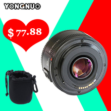 Buy YONGNUO Lens yn50mm YN50MM Fixed Focus Lens EF 50mm F/1.8 AF Lense Large Aperture Auto Focus Lens Nikon DSLR Camera + gifts for $76.88 in AliExpress store