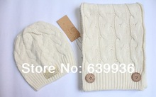 Free shipping!The new 2014  hat scarf two-piece hat 2 times/hat/scarf(China (Mainland))