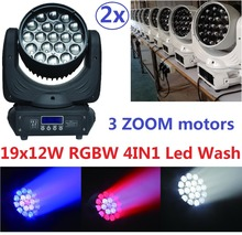Buy 2xLot Free Led RGBW 4in1 Wash Zoom 19x12W LED Beam Wash Moving Head Light DJ DMX Disco Stage Lighting Effect Projector for $760.00 in AliExpress store