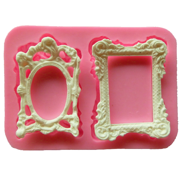 Free shipping Picture frame cooking tools wedding decoration Silicone Mould baking Fondant Sugar Craft DIY Cake candy(China (Mainland))
