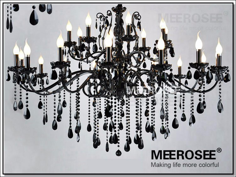 24 Arms Large Crystal Chandelier Lights Top Luxury Black iluminacion industrial Indoor Lighting Lustre Drop Lamp Free Shipping(China (Mainland))