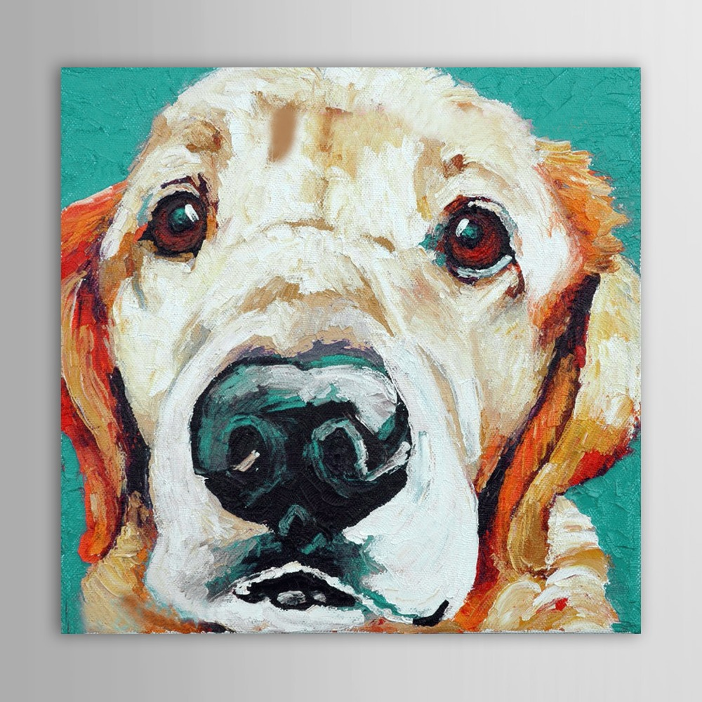 Online buy wholesale dog canvas wall art from china dog for Hand painted portraits from photos